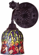 Meyda Tiffany 19019 Red Rosebud Reversible 1 Light Tiffany Wall Sconce Lighting Fixture