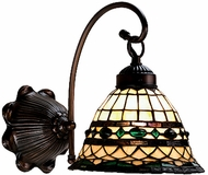 Meyda Tiffany 18529 Roman 1 Light Tiffany Wall Sconce Lighting Fixture
