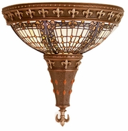 Meyda Tiffany 50241 Fleur-de-lis Tiffany Wall Sconce Lighting Fixture