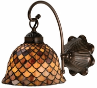 Meyda Tiffany 18631 Amber Fishscale Tiffany Wall Lamp
