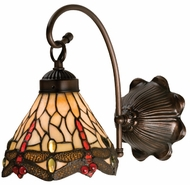 Meyda Tiffany 18685 Scarlet Dragonfly Tiffany Wall Sconce Lighting Fixture