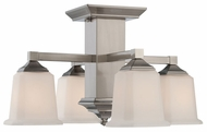 Quoizel QF1213SBN Norwood Extra Large Semi Flush 4-Light Nickel Ceiling Lamp