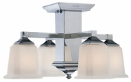 Quoizel QF1213SC Norwood Polished Chrome 19 Inch Diameter 4-Light Indoor Ceiling Light