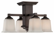 Quoizel QF1213SHO Norwood Bronze 4-Light Transitional Overhead Light Fixture