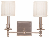 Hudson Valley 302 Palmer Dual Vanity Lighting Fixture with White Pleated Shades
