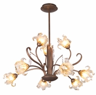 ET2 E22064-26 Bloom 9 Light Crystal Pendant Chandelier