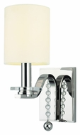 Hudson Valley 8161-PN Bolton Transitional 4 Inch Tall Cylinder Shade Wall Sconce Light Fixture - Polished Nickel