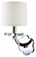 Hudson Valley 1421 Garrison 14 Inch Tall Transitional Wall Light Sconce - Nickel Or Bronze