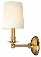 Hudson Valley 181 Gibson 12 Inch Tall Transitional Wall Lamp With Shade