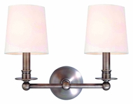 Hudson Valley 182 Gibson 2 Lamp Transitional 13 Inch Wide Wall Lighting Fixture In Multiple Finishes