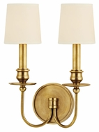Hudson Valley 8212 Cohasset 2 Lamp 14 Inch Tall Lighting Sconce With Eco-Paper Shade