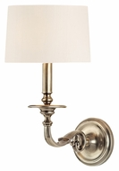 Hudson Valley 910 Whitmire 15 Inch Tall Transitional Wall Sconce With Faux Silk Shade