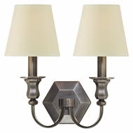 Hudson Valley 1412 Charlotte 2 Lamp 12 Inch Wide Eco-Paper Shade Wall Light Fixture