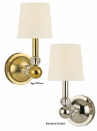 Hudson Valley 3100 Danville Transitional 1 Lamp Eco-Paper Shade Wall Sconce Light