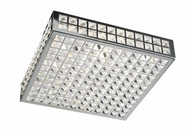 PLC 18188-PC Jewel Flush-Mount Ceiling Fixture - 16 inches wide