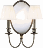 Hudson Valley 72 Talbott 2 Light Wall Sconce with Mirrored Backplate