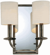 Hudson Valley 82 Winthrop 2 Light Wall Sconce with Mirrored Backplate