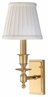 Hudson Valley 6801 Newport Wall Sconce with White pleated Shade
