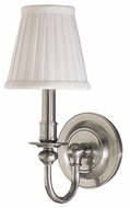 Hudson Valley 1901 Newport Wall Sconce with White Pleated Shade