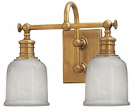 Hudson Valley 1972 Keswick Aged Brass Dual Vanity Lighting Fixture