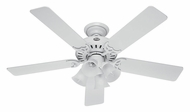Hunter 53062 Studio Series 4 Lamp Transitional Ceiling Fan Lighting - White