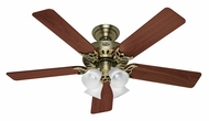 Hunter 53063 Studio Series 52 Inch Span Antique Brass Finish 5 Blade Ceiling Fan