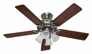 Hunter 53065 Studio Series Antique Pewter Finish 52 Inch Span Ceiling Fan Light