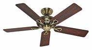 Hunter 53105 Savoy Antique Brass Finish 52 Inch Span Transitional Ceiling Fan