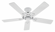 Hunter 53103 Savoy 52 Inch Span 5 Blade White Ceiling Fan