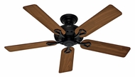 Hunter 53104 Savoy Walnut/Cherry Blade 52 Inch Span Matte Black Ceiling Fan