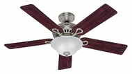 Hunter 20531 Vista Brushed Nickel Finish Home Ceiling Fan Lighting - 52 Inch Span
