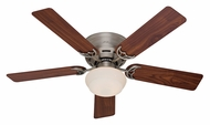 Hunter 53074 Low Profile III Plus Transitional Antique Pewter Finish 5 Blade Ceiling Fan Light Fixture