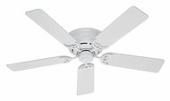 Hunter 53069 Low Profile III 5 Blade White Home Ceiling Fan - 52 Inch Span