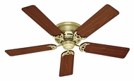 Hunter 53070 Low Profile III Bright Brass Finish 52 Inch Span Ceiling Fan Light Fixture