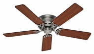 Hunter 53071 Low Profile III 52 Inch Span 5 Blade Antique Pewter Ceiling Fan Light
