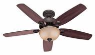 Hunter 53091 Builder Deluxe 52 Inch Span New Bronze Finish Ceiling Fan Lighting