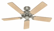 Hunter 26418 Architect Series Maple/Chestnut Blade 52 Inch Span Brushed Nickel Ceiling Fan