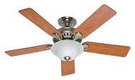 Hunter 53249 Pro's Best Five Minute Fan Fluorescent 52 Inch Span Brushed Nickel Ceiling Fan