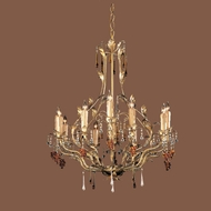 Crystorama 4609-GL Ritz 12 Candle Gold Leaf Finish Rustic Chandelier Light Fixture - 26 Inch Diameter