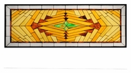 Meyda Tiffany 113370 Nuevo Mission 62 Inch Wide Stained Glass Wall D�cor