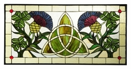 Meyda Tiffany 114591 Trinity Knot 28 Inch Wide Stained Glass Home D�cor Window - 14 Inches Tall