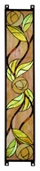 Meyda Tiffany 114712 Mackintosh Rose 35 Inch Tall Stained Glass Wall D�cor - Left