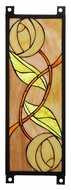 Meyda Tiffany 110925 Mackintosh Rose 17 Inch Tall Stained Glass Wall D�cor