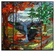 Meyda Tiffany 107815 Tiffany River Of Life Stained Glass Wall D�cor - 46 Inches Tall