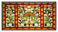Meyda Tiffany 109883 Picadilly 36 Inch Wide Wall D�cor Stained Glass Window