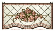 Meyda Tiffany 32594 Cabbage Rose 29 Inch Wide Wall D�cor Stained Glass Window