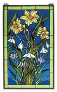 Meyda Tiffany 38738 Spring Bouquet 25 Inch Tall Stained Glass Wall D�cor