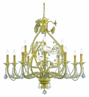 Crystorama 5139-CM-CL-MWP Regis Champagne Finish 41 Inch Diameter 12 Candle Rustic Chandelier