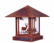 Arroyo Craftsman TRC-9DR Timber Ridge 9 inch Outdoor Pier Mount with Deer Filigree
