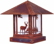 Arroyo Craftsman TRC-16DR Timber Ridge 16 inch Outdoor Pier Mount with Deer Filigree